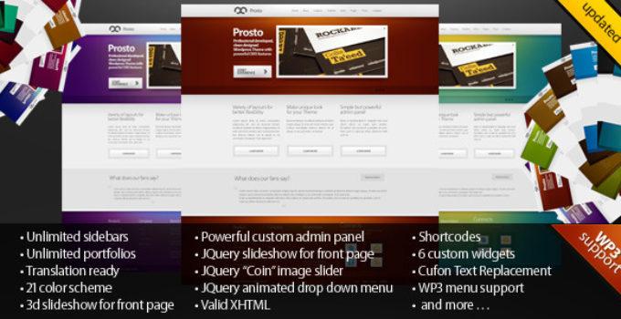 Prosto - Business & Portfolio, CMS WordPress theme