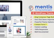 Psychologist- WordPress Theme Mentis for Therapists, Psychiatrists & Life coaches