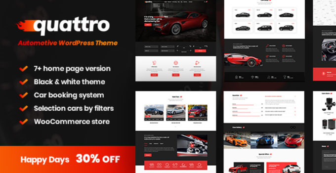Quattro - Auto Booking & Automotive Theme