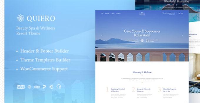 Quiero - Beauty Spa & Wellness Resort Theme