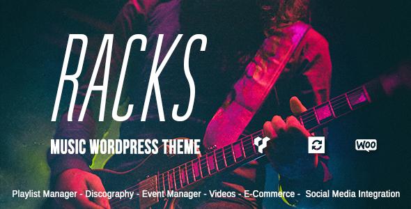 Racks - An Old School Style Music WordPress Theme