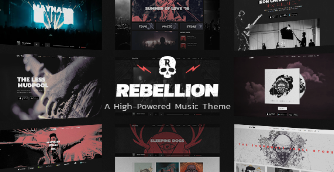 Rebellion - Music Theme for Bands and Record Labels