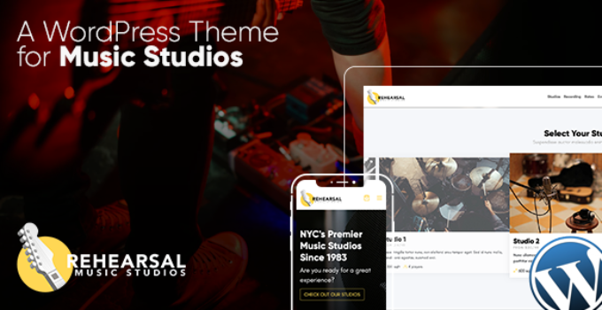 Rehearsal - Music Studio WordPress Theme