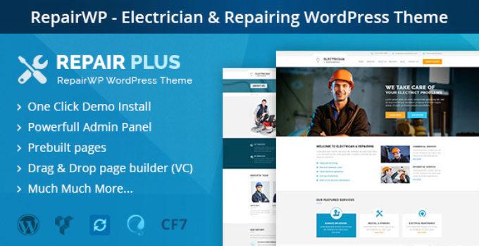 RepairWP - Electronices, Mobile & Computer Repairing WordPress Theme