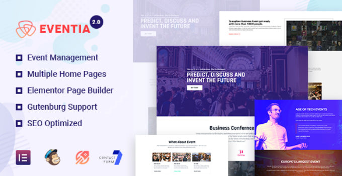 Responsive Event WordPress Theme For Any Event & Conference - Eventia