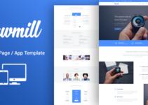 Responsive WordPress Software Marketing Theme - Sawmill