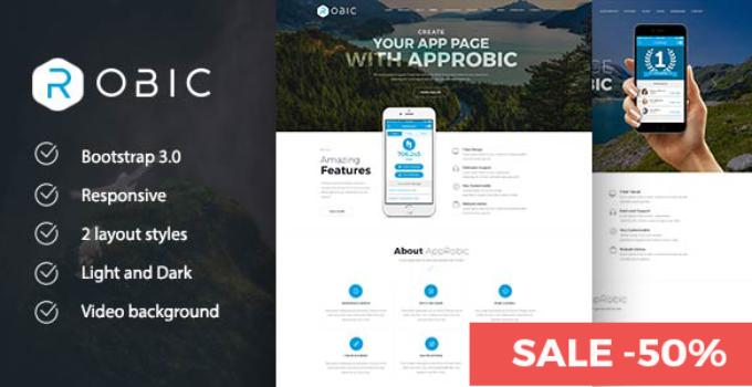Robic - WordPress Landing Page Theme