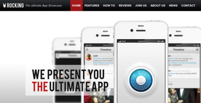 Rocking Parallax iPhone App Showcase Wordpress