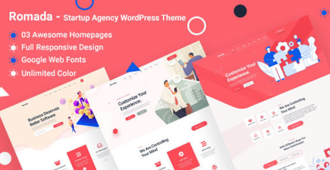 Romada - Startup Creative Digital Agency WordPress Theme