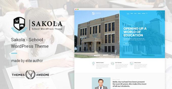 Sakola | School WordPress Theme