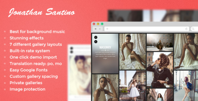 Santino - Photography WordPress Theme
