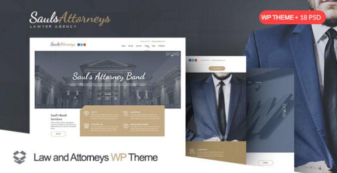 SaulsAttorneys - Responsive Lawyers & Attorneys WordPress Theme