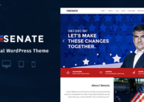Senate - Politic, Senator and Election Campaign WordPress Theme