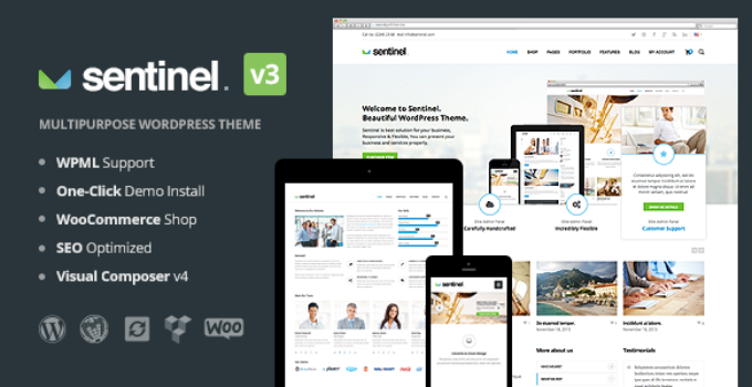 Sentinel - Responsive Multipurpose WordPress Theme