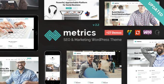 SEO Metrics - SEO, Digital Marketing, Social Media WordPress Theme