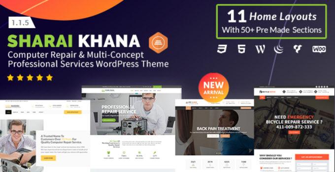 Sharai Khana - Computer Repair & Multi-Concept Professional Services WordPress Theme