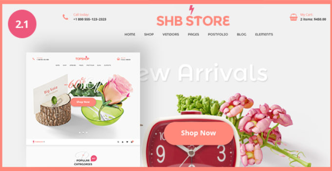 SHB ( Spa, Health & Beauty) - RTL Responsive WooCommerce WordPress Theme