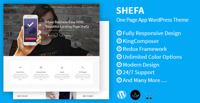 Shefa - One Page App WordPress Theme