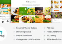 Shrimpy - Responsive Restaurant Wordpress Theme