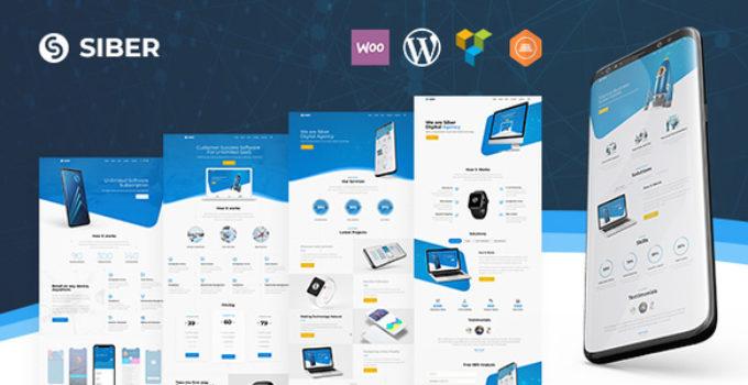 Siber | SaaS, Software & Mobile App for SaaS/Software WordPress Theme