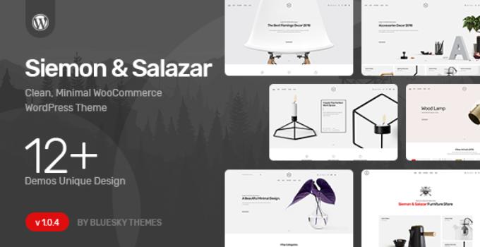 Siemon & Salazar - Clean, Minimal WooCommerce Theme