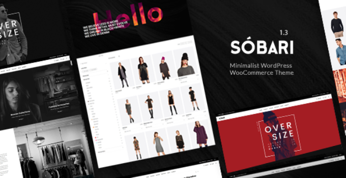 Sobari – Minimalist WordPress WooCommerce Theme