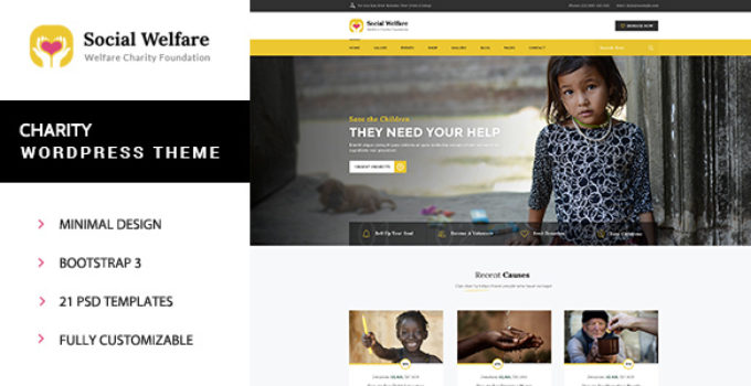 Social Welfare - Charity Wordpress Theme