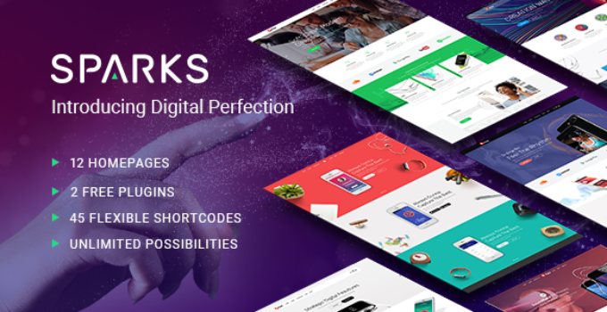 Sparks - Theme for App Developers and Startups