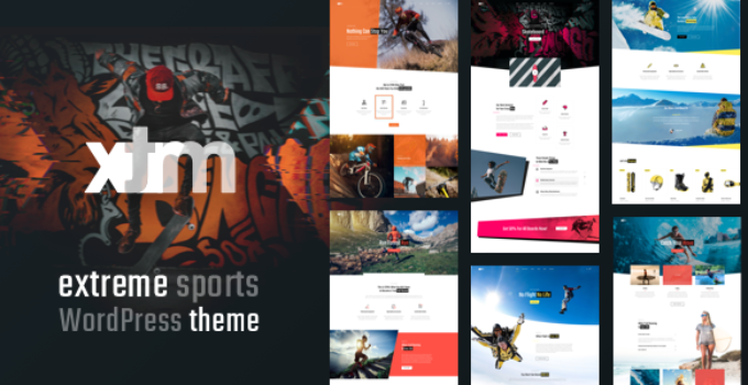 Sports XTRM - Extreme Sports, Snowboarding, Mountain Bike WordPress Sports