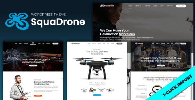 SquaDrone - Drone & UAV Business WordPress Theme