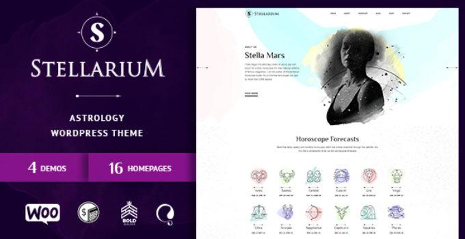 Stellarium – Horoscope and Astrology WordPress Theme
