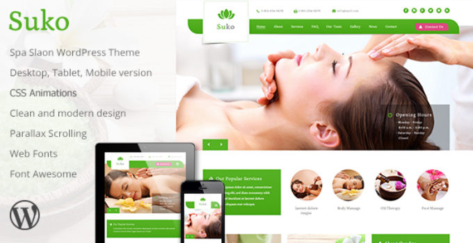 Suko - Spa Salon WordPress Theme