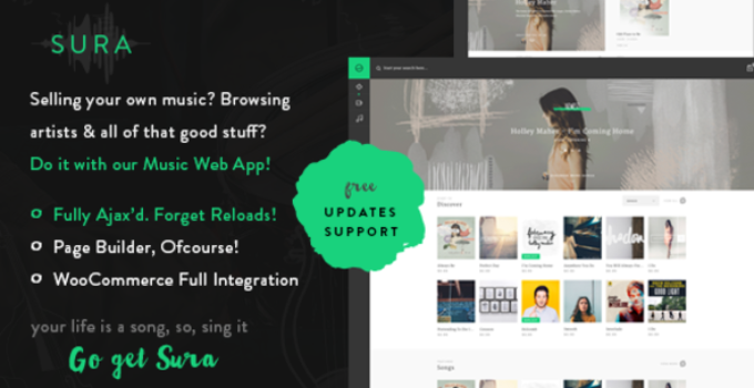 Sura - A Music Web App WordPress Theme