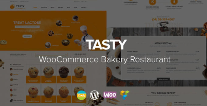 Tasty - WooCommerce Bakery WordPress Theme