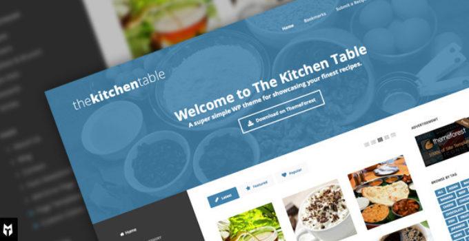 The Kitchen Table: Responsive Recipes WP Theme