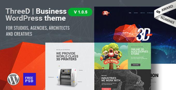 ThreeD | WordPress Theme for Architects, Studios & Agencies
