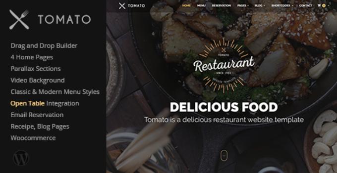 Tomato - Restaurant, Cafe, Espresso WordPress Theme