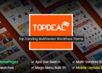 TopDeal - Multi Vendor Marketplace WordPress Theme (Mobile Layouts Ready)
