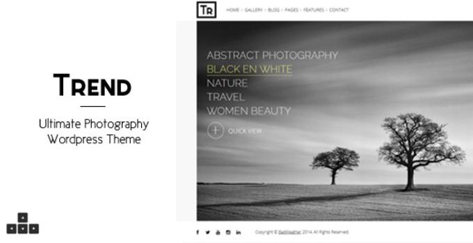 Trend - Photography WordPress Theme