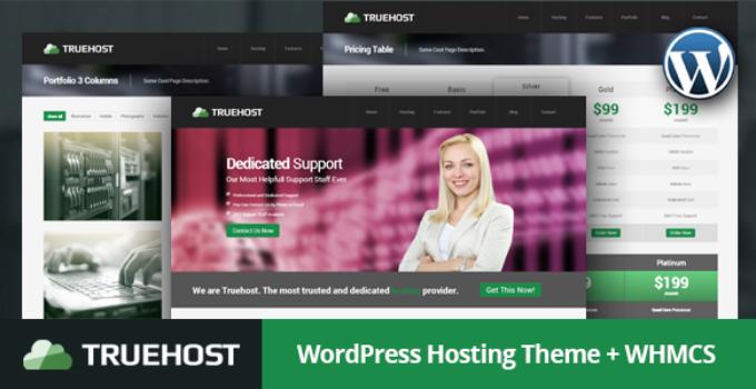 Truehost - Responsive Hosting WordPress Theme