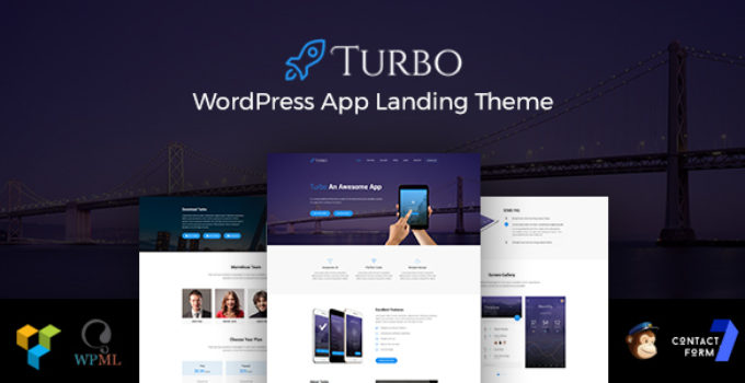 Turbo - Responsive App Landing WordPress Theme