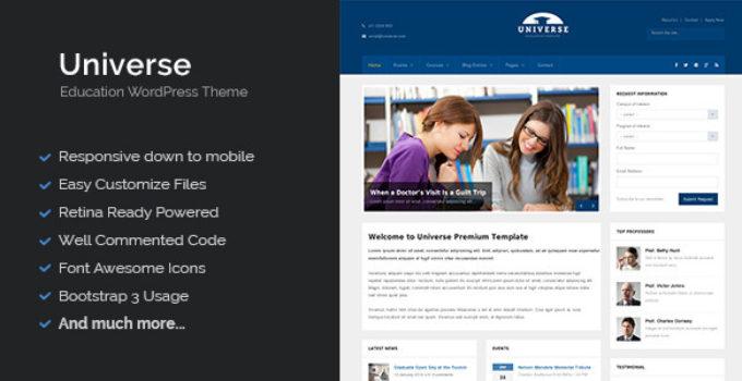 Universe - Education Responsive WordPress Theme