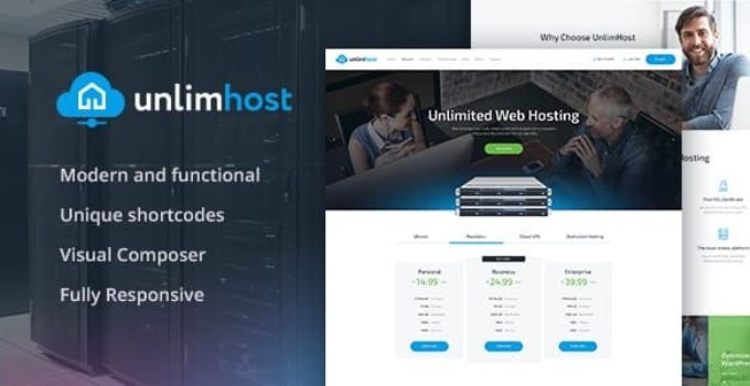 UnlimHost - A Hosting & Technology WordPress Theme
