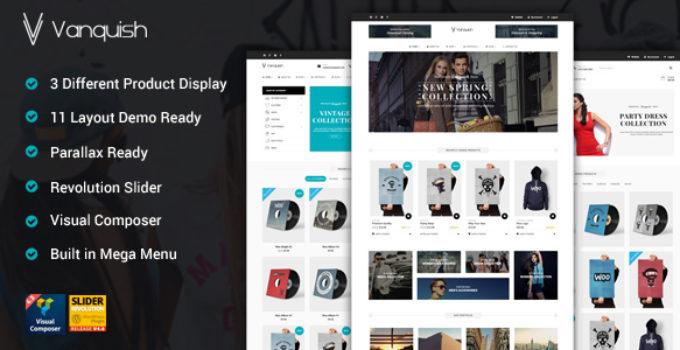 Vanquish - Multi Product Display eCommerce Theme