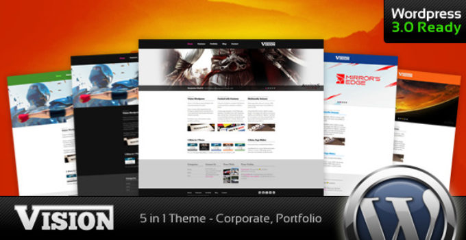 Vision - Corporate and Portfolio WP Theme