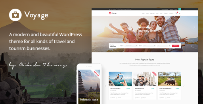 Voyage - Travel Tour and Booking Theme