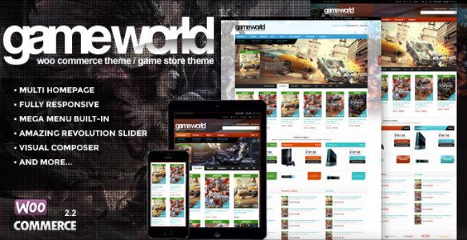 WooCommerce Game Theme - GameWorld