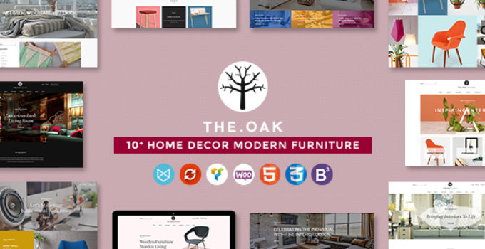 WordPress WooCommerce Theme for Furniture Decoration Design eCommerce Store | WP TheOak