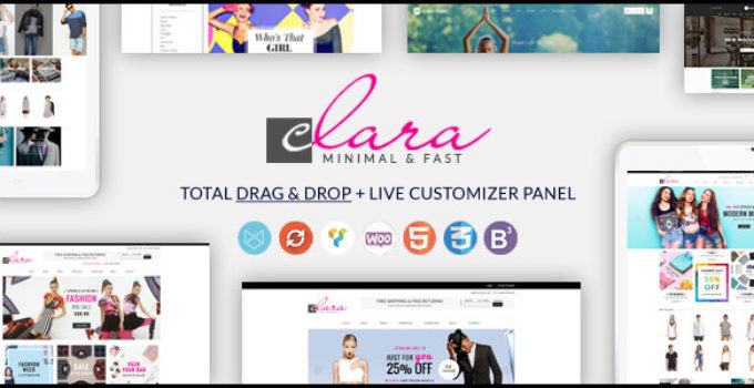 WP Clara - Multipurpose Responsive Minimalist WordPress Theme