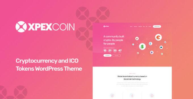 XPEXCoin - Powerful Bitcoin & Cryptocurrency WordPress Theme